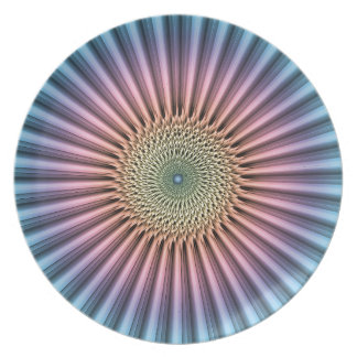 Digital Mandala Flower Plate