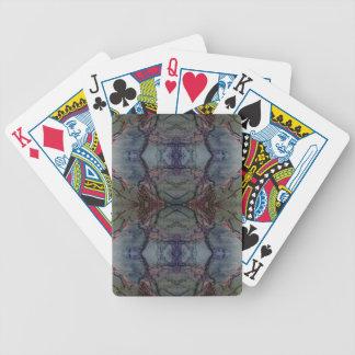 Digital Marble Blue Cast Pattern Playing Cards