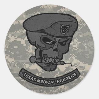 digital, Medical rangers with skull-cartoon Round Sticker
