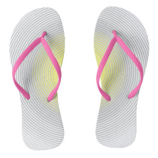 Digital Minimalist Sunshine Sunny Bright Flip Flops