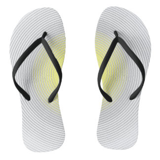 Digital Minimalist Sunshine Sunny Bright Flip Flops