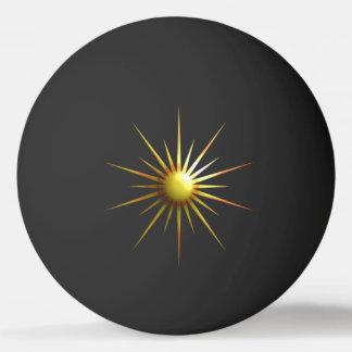 Digital Modern Sun Ping Pong Ball