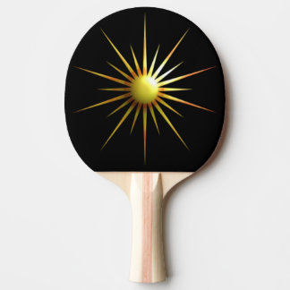 Digital Modern Sun Ping Pong Paddle