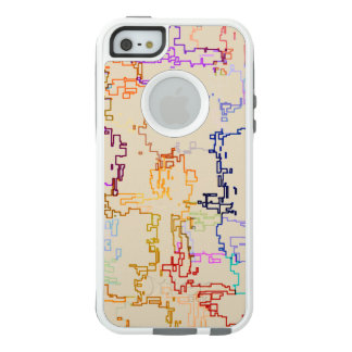 Digital Multicolor Abstract Line Pattern OtterBox iPhone 5/5s/SE Case