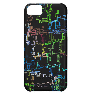 Digital Multicolored Abstract Line Pattern Case For iPhone 5C