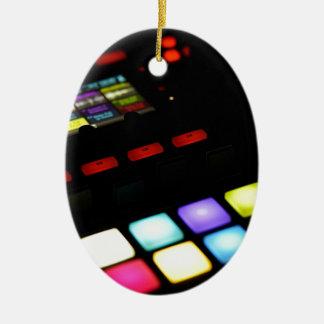 Digital Music Dj Technology Sequencer Samples Ceramic Ornament