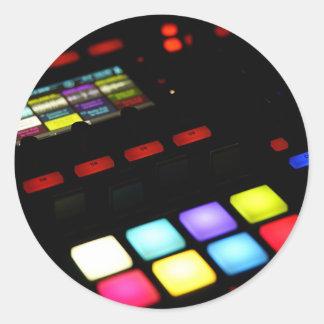 Digital Music Dj Technology Sequencer Samples Classic Round Sticker