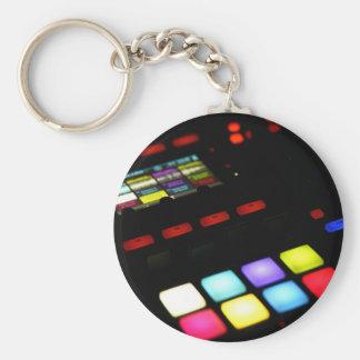 Digital Music Dj Technology Sequencer Samples Keychain