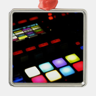 Digital Music Dj Technology Sequencer Samples Metal Ornament