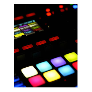 Digital Music Dj Technology Sequencer Samples Postcard