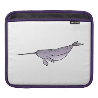 Digital Narwhal Illustration, Sea Animal iPad Sleeve