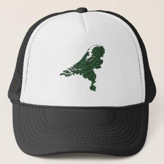 Digital Netherlands - binary code on map of The Ne Trucker Hat