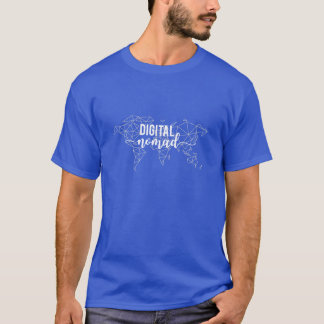Digital nomad geometric world map T-Shirt