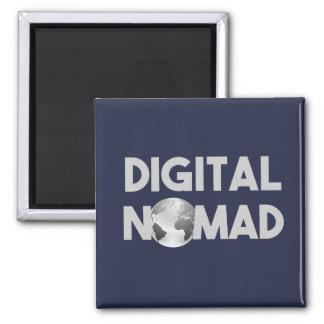 Digital Nomad Traveller Square Magnet