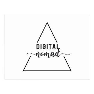 Digital nomad triangle design postcard