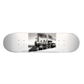 Digital Oil Painting Of Steam Engine 119 Skate Decks