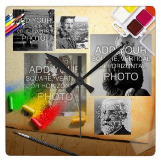 Digital or Instagram 5-Photo Artistic Wall Clock