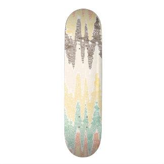 Digital painting custom skateboard