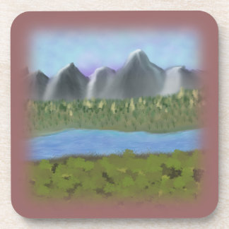 Digital Painting_Mountains and River Coaster