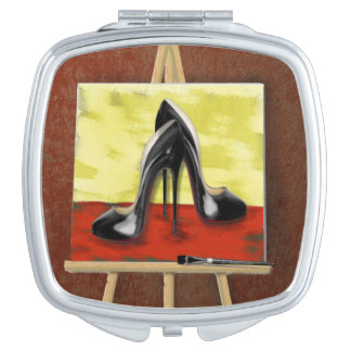 Digital Painting of a Painting of Black Stiletto's Compact Mirrors