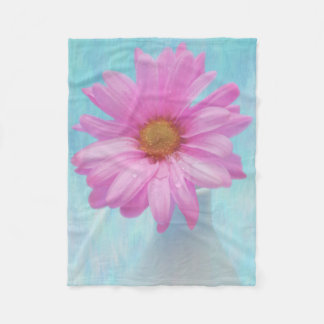Digital Painting of a photographed pink blossom Fleece Blanket