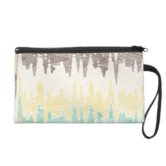 Digital painting wristlet purse