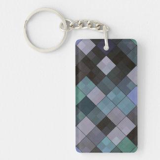 Digital Patchwork Double-Sided Rectangular Acrylic Keychain