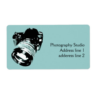 Digital photo camera address label