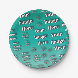 Digital Photo Template Paper Plate