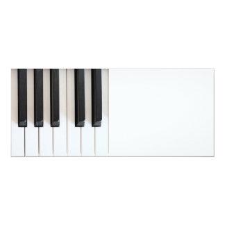 "Digital piano keyboard 4"" x 9.25"" invitation card"