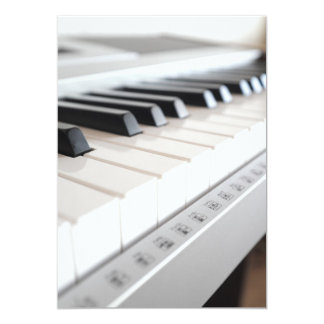 "Digital piano keyboard 5"" x 7"" invitation card"
