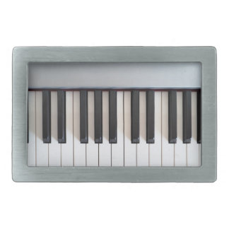 Digital piano keyboard belt buckle