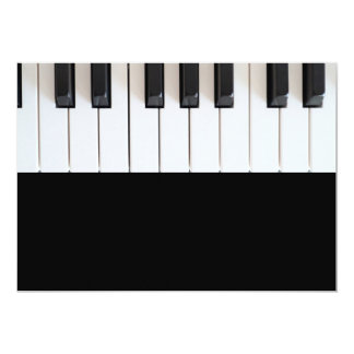 Digital piano keyboard personalized invitations