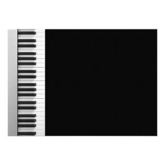 Digital piano keyboard card