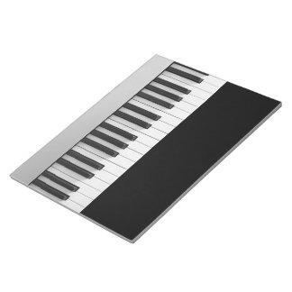 Digital piano keyboard notepad
