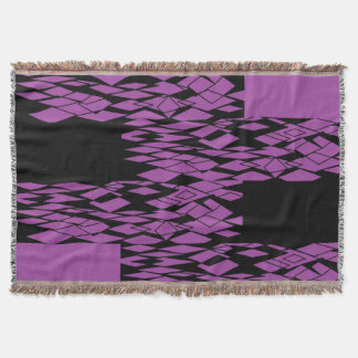 Digital Purple Lace SDL Throw Blanket