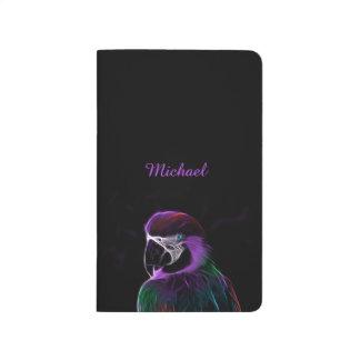 Digital purple parrot fractal journal