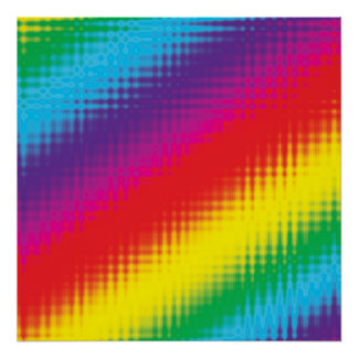 Digital Rainbow Lines Posters