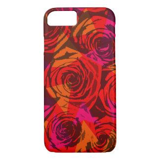Digital red roses iPhone 7 case