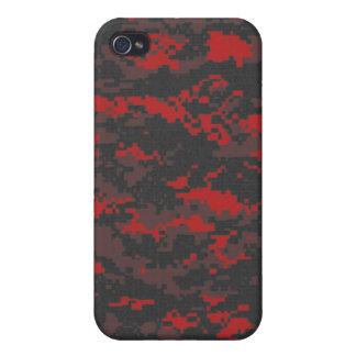 Digital Red Tiger Camo iPhone Case