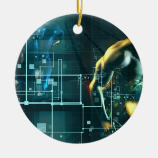 Digital Revolution and the Race for New Consumer Round Ceramic Ornament