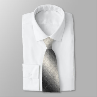 Digital Silver and Cream Roman Ionic Column Design Tie
