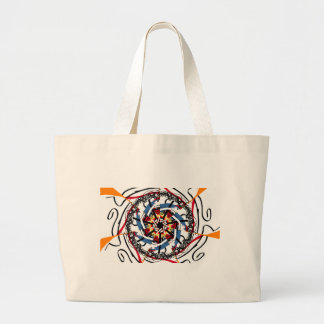 Digital spin large tote bag