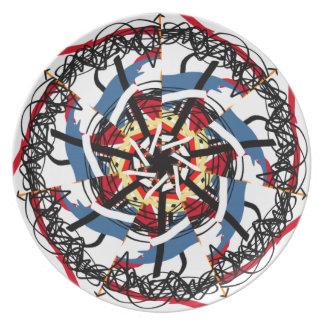 Digital spin plate