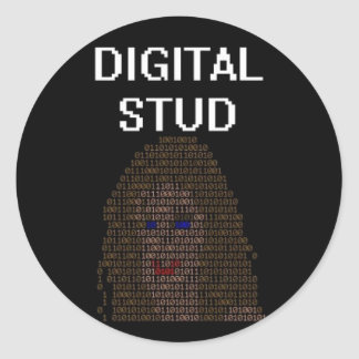 Digital Stud Classic Round Sticker