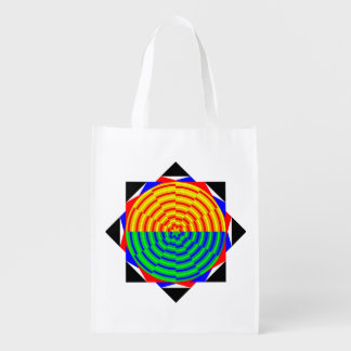 Digital Sunrise by Kenneth Yoncich Grocery Bag