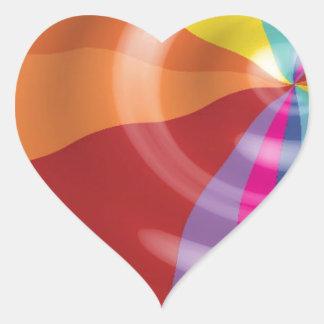 DIGITAL SWIRLS RAINBOW COLORFUL VECTOR FUN PARTY S HEART STICKER