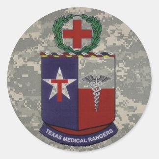 digital, texas medical Rangers no blue Round Sticker