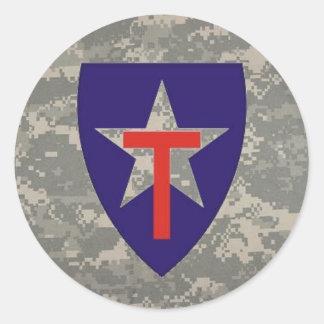digital, TXSG star-round decal Round Sticker