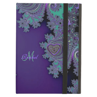 Digital Violet Purple Fractal Cover For iPad Air